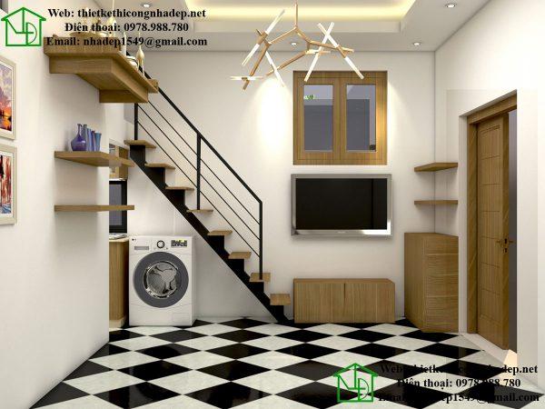 Thiết kế nội thất chung cư nhỏ 40m2 hiện đại và nhỏ gọn