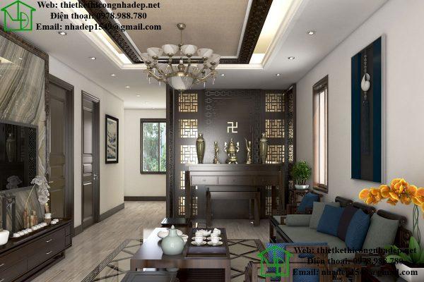Thiết kế nội thất phòng khách mẫu nhà cấp 4 nông thôn NDNC450