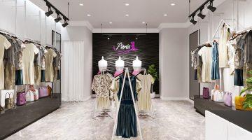 Thiết kế shop quần áo nữ, thiết kế cửa hàng quần áo đẹp NDTKS8