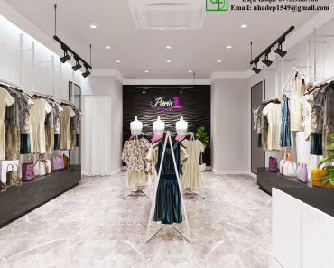Thiết kế shop quần áo nữ NDTKS8