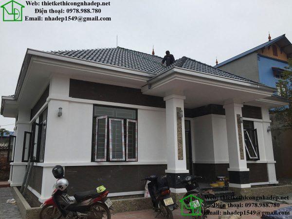 Biệt thự 1 tầng mái thái tại Bắc Ninh NDTKSV1