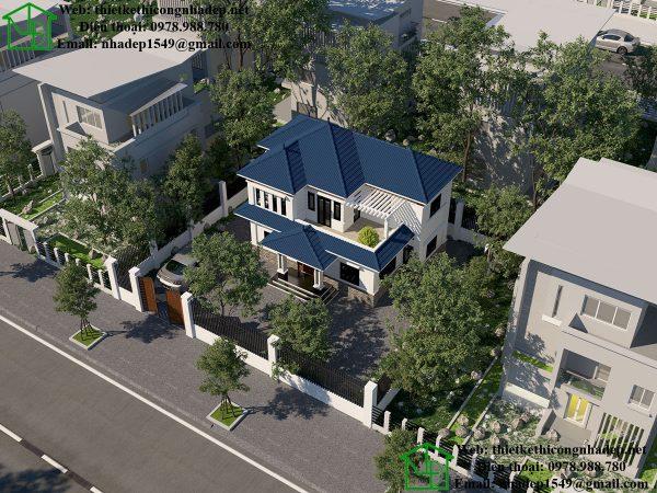Biệt thự 2 tầng mái thái đẹp NDBT2T34