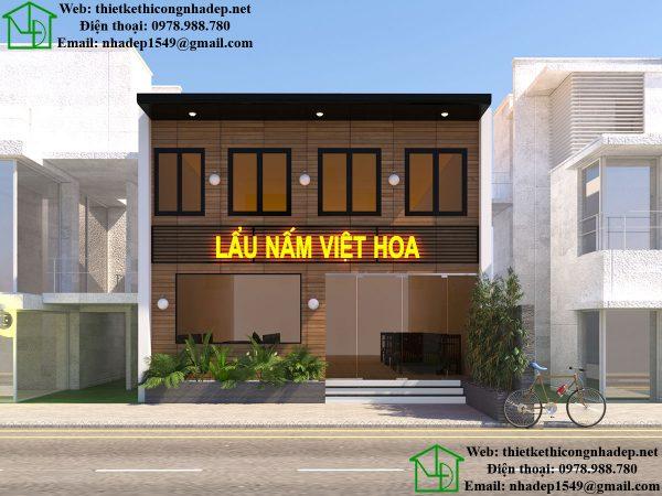 Mặt tiền nhà hàng lẩu nấm Việt Hoa NDNH1