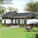 Nhà cấp 4 nhỏ gọn đơn giản, nhà cấp 4 mái thái 80m2 NDNC455