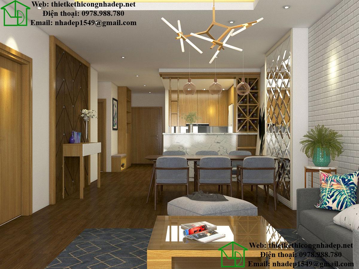Nội thất phòng khách chung cư cao cấp NDNTCC11