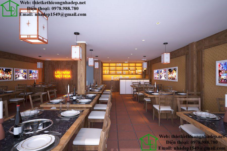 Thiết kế nhà hàng lẩu nấm, lẩu nấm Nhật Bản tại Hà Nội NDNH1