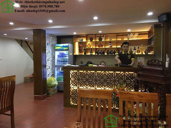 Quầy bar nhà hàng lẩu nấm NDNH1