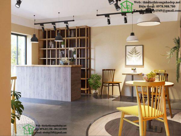 Thiết kế quán cafe đẹp kết hợp câu lạc bộ Cigar NDCF78