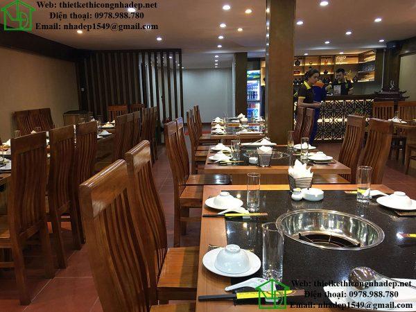 Tầng 1 nhà hàng lẩu nấm NDNH1