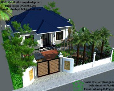 Thiết kế sân vườn biệt thự NDTKSV1