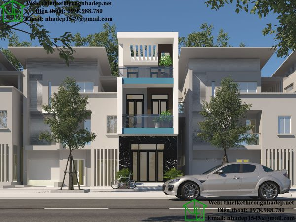 Mẫu nhà phố 3 tầng 4x18m NDNP3T16
