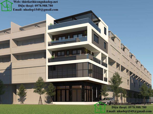 Nhà ở kết hợp văn phòng kinh doanh NDNP4T8