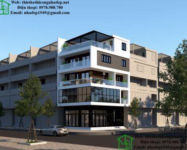 Thiết kế biệt thự 4 tầng hiện đại NDNP4T8