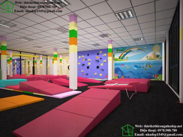 Thiết kế trung tâm gym cho bé NDTKS9