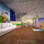Thiết kế gym baby, thiết kế trung tâm Gym cho trẻ em NDTKS9