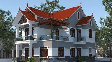 Mẫu biệt thự 2 tầng đẹp, thiết kế biệt thự đẹp tại Đông Hưng-Thái Bình NDBT2T37