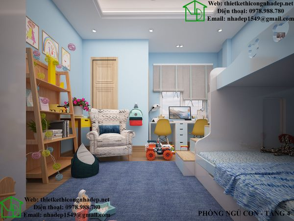 Thiết kế nội thất phòng ngủ cho bé NDNP5T4