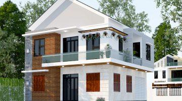 Biệt thự 2 tầng hiện đại, mẫu nhà biệt thự 2 tầng mái thái tại Bắc Ninh NDBT2T39