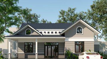 Mẫu biệt thự nhà vườn 1 tầng đẹp, thiết kế nhà đẹp 1 tầng tại Đà Nẵng DBT1T51