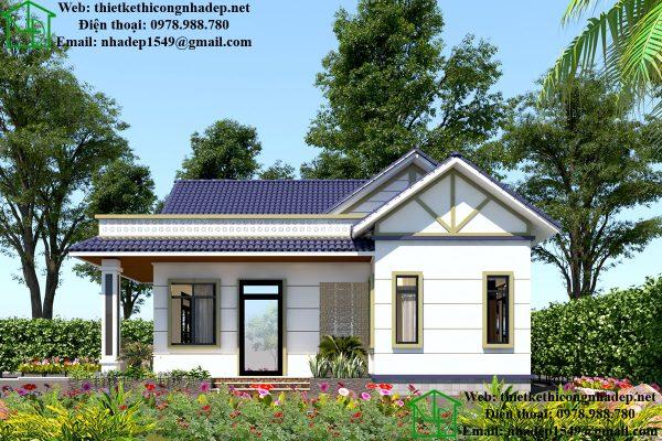 Biệt thự 1 tầng mái thái tại Hưng Yên DBT1T59