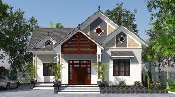 Mẫu nhà mái thái 1 tầng, nhà đẹp 1 tầng hiện đại tại Quảng Ninh DBT1T56