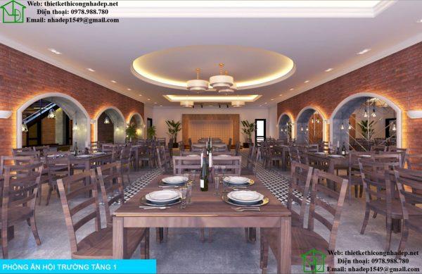 Phòng ăn hội trường tầng 1 NDNH2