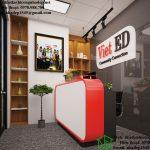 Thiết kế nội thất văn phòng, thiết kế văn phòng làm việc VietED NDTKVP2