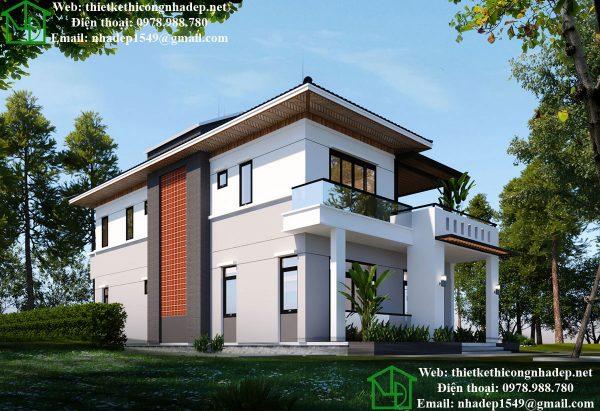 Thiết kế biệt thự nhà vườn 2 tầng NDBT2T41