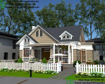 Thiết kế nhà đẹp mái thái tại Nam Định DBT1T57