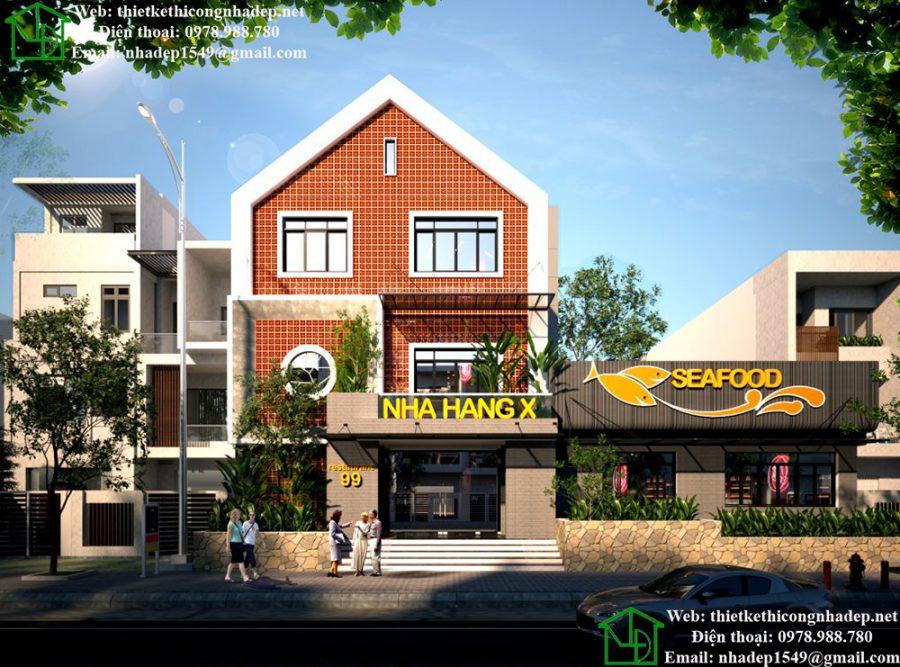 Thiết kế nội thất nhà hàng, thiết kế nhà hàng ăn uống đẹp tại Tuyên Quang NDNH2
