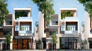 Thiết kế nhà phố 3 tầng hiện đại, nhà ống đẹp 3 tầng tại Gia Lâm NDNP3T17