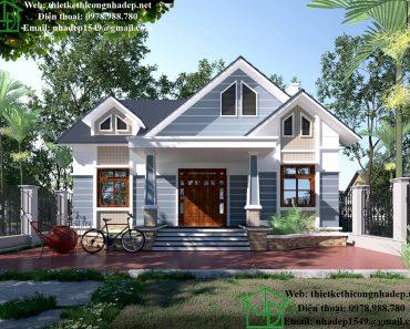 Giá xây nhà trọn gói đẹp DBT1T60