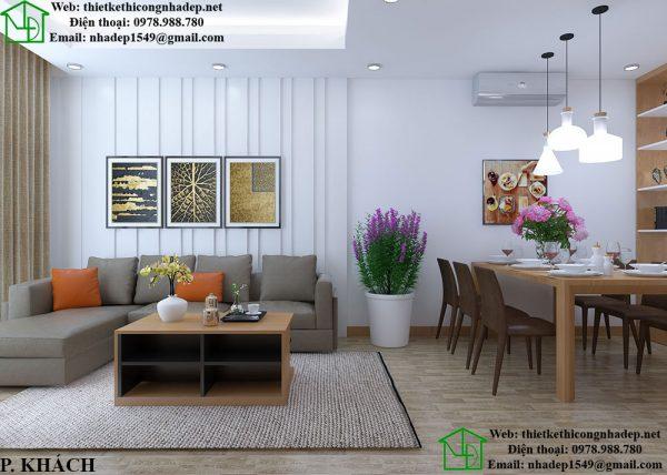 Thiết kế nội thất chung cư 2 phòng ngủ sang trọng và lịch sự