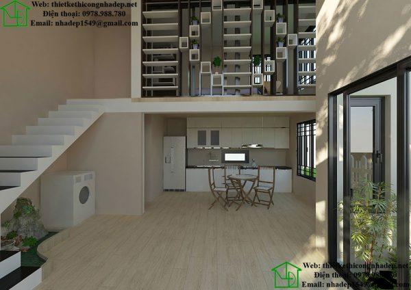 Thiết kế nội thất nhà cấp 4 NDNC460