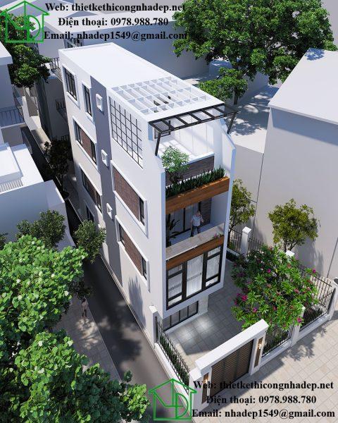 Mẫu nhà phố 3 tầng hiện đại NDNP3T18