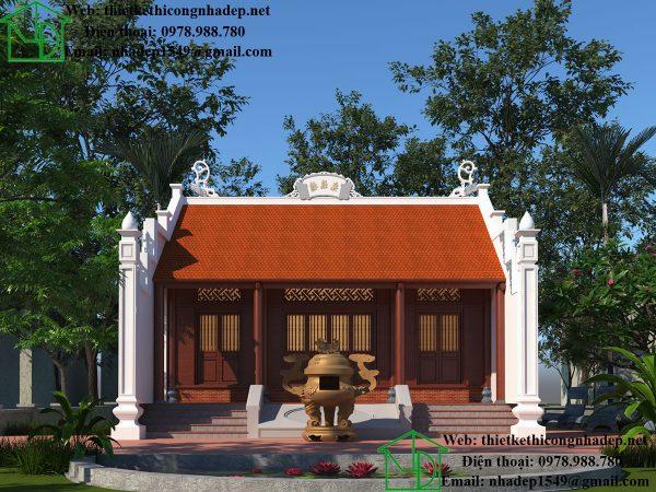 Phối cảnh nhà thờ họ tại Ninh Bình NDNTH15