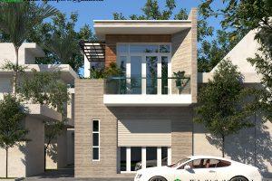 Thiết kế nhà phố 2 tầng hiện đại NDNP2T5