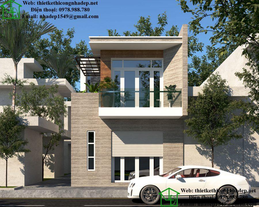 Giá xây nhà phố 2 tầng 2