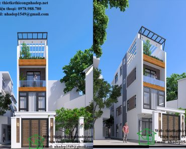 Thiết kế nhà phố 3 tầng đẹp NDNP3T18