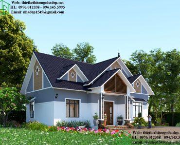Biệt thự nhà vườn mái thái tại Ninh Bình DBT1T63