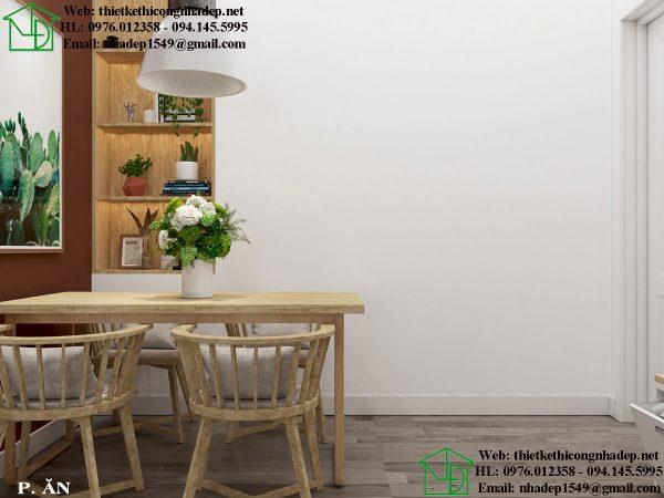 Thiết kế chung cư nhỏ với phòng ăn ấm cúng