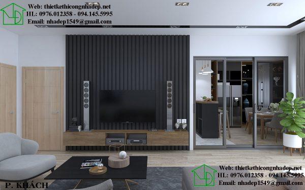 Thiết kế thi công nội thất chung cư độc đáo với chất liệu gỗ