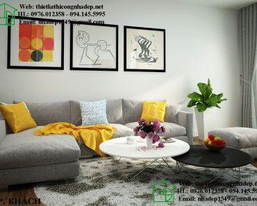 Mẫu căn hộ chung cư đẹp với phòng khách trang nhã