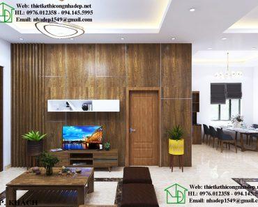 Nội thất phòng khách chung cư hiện đại NDNTCC26