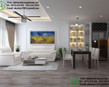 Thiết kế nội thất phòng khách chung cư Dream Home