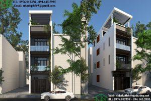 Thiết kế mẫu nhà 4 tầng đẹp NDNP4T9