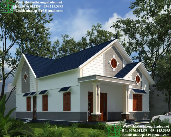 Thiết kế nhà cấp 4 hiện đại mái thái NDNC464