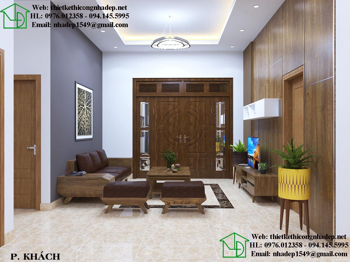Thiết kế nội thất phòng khách đẹp NDNTCC26