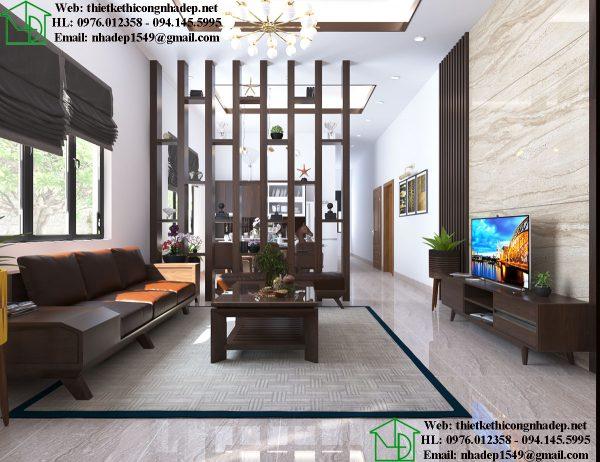 Thiết kế nội thất phòng khách nhà cấp 4 NDNTPK5