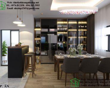 Thiết kế thi công chung cư độc đáo với chất liệu gỗ